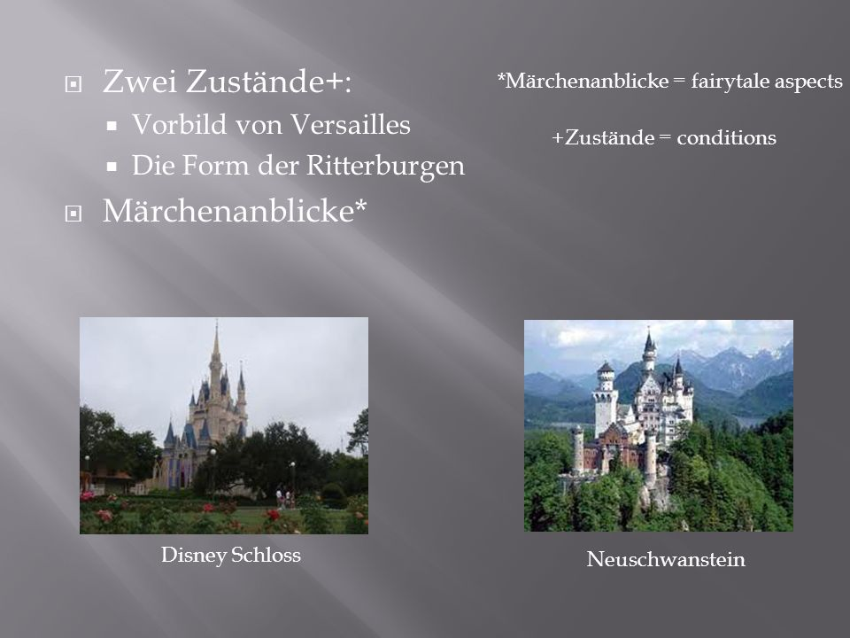Zwei Zustände+: Märchenanblicke* Vorbild von Versailles