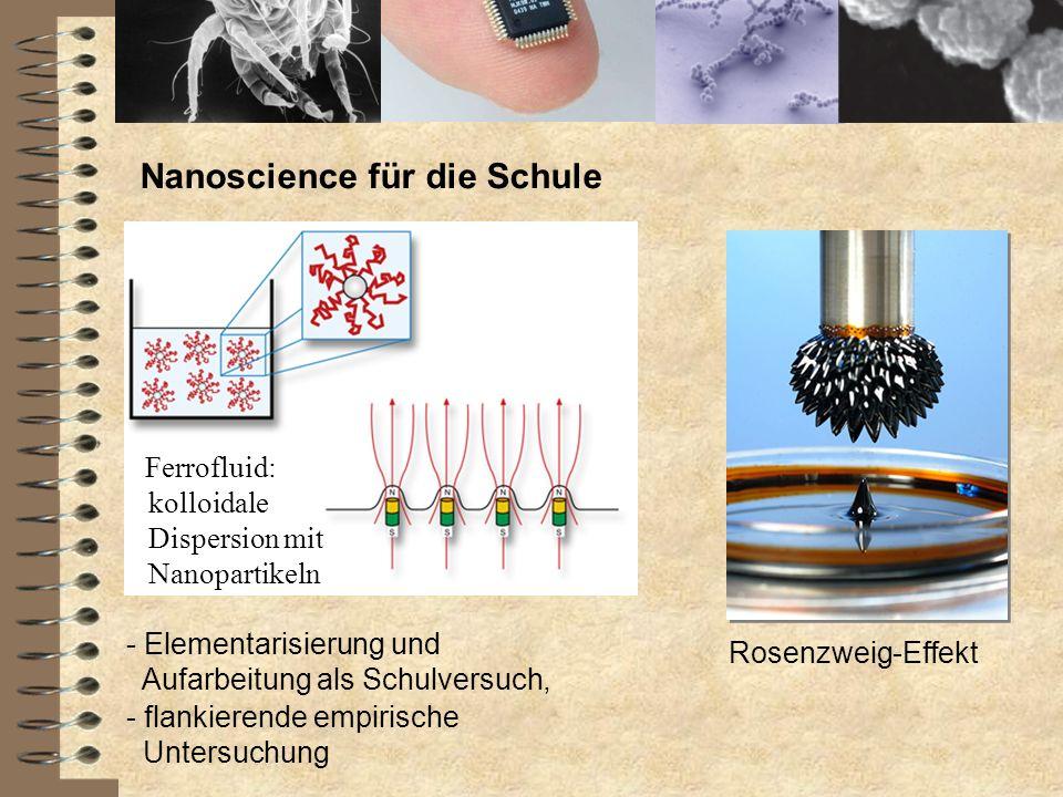Nanoscience für die Schule