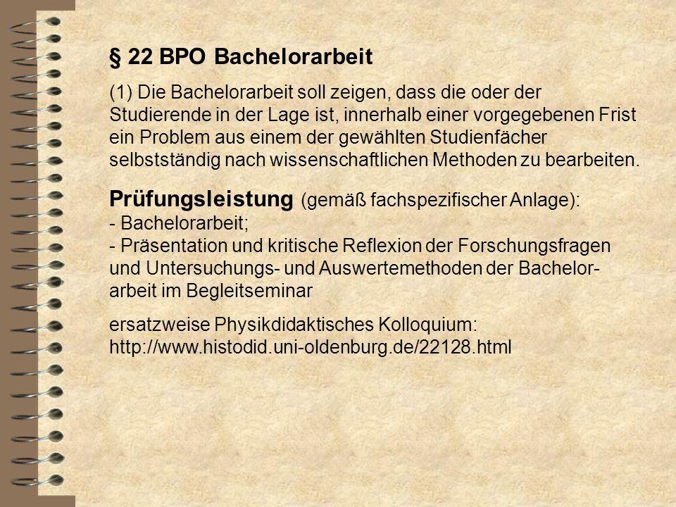 § 22 BPO Bachelorarbeit
