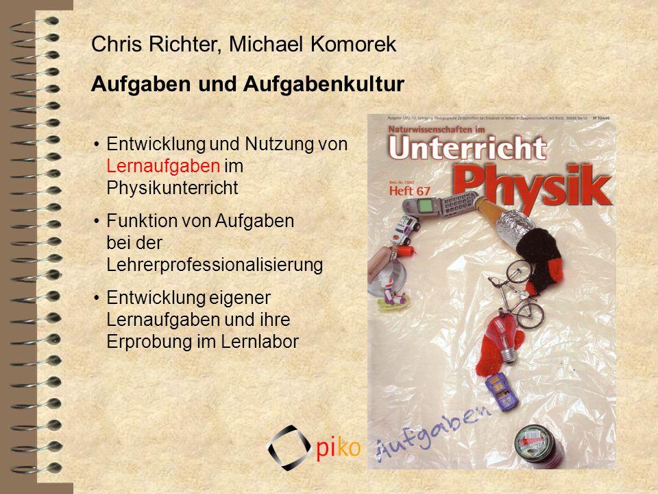 Chris Richter, Michael Komorek Aufgaben und Aufgabenkultur