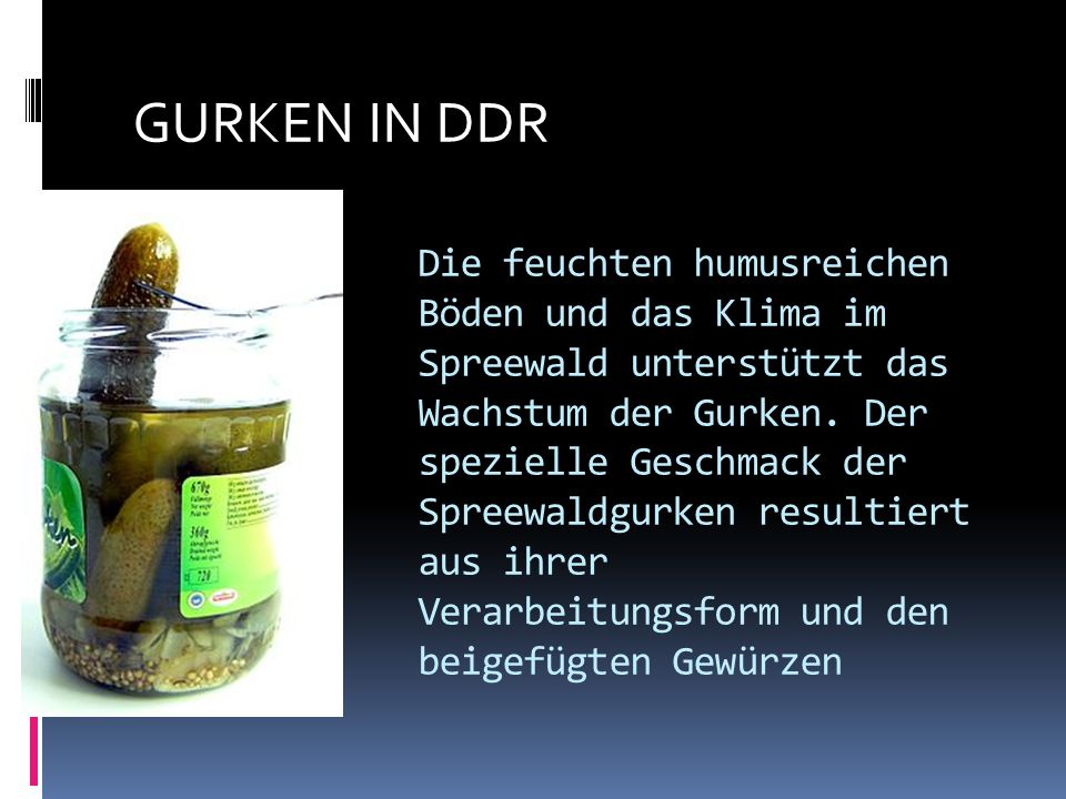 GURKEN IN DDR
