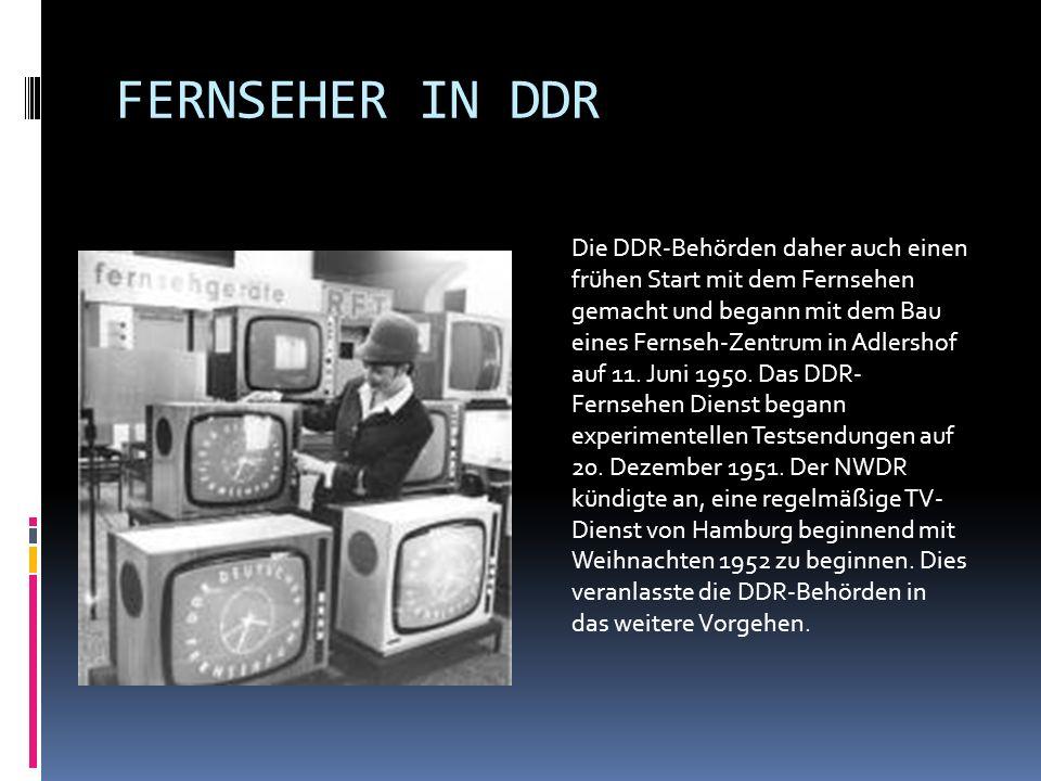 FERNSEHER IN DDR