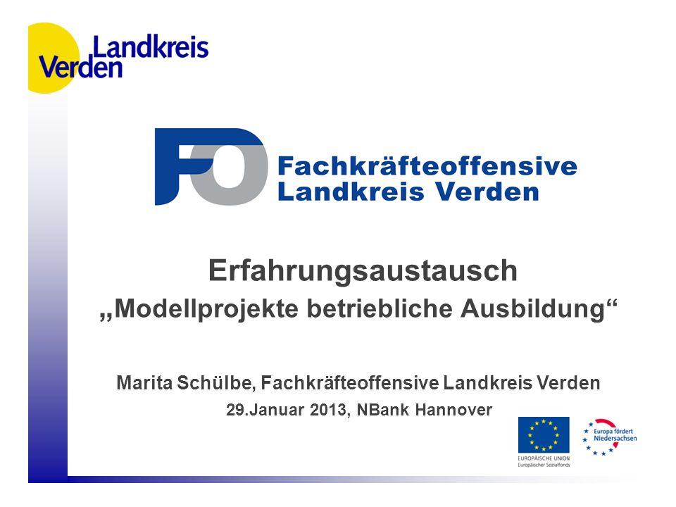 """Erfahrungsaustausch """"Modellprojekte betriebliche Ausbildung"""