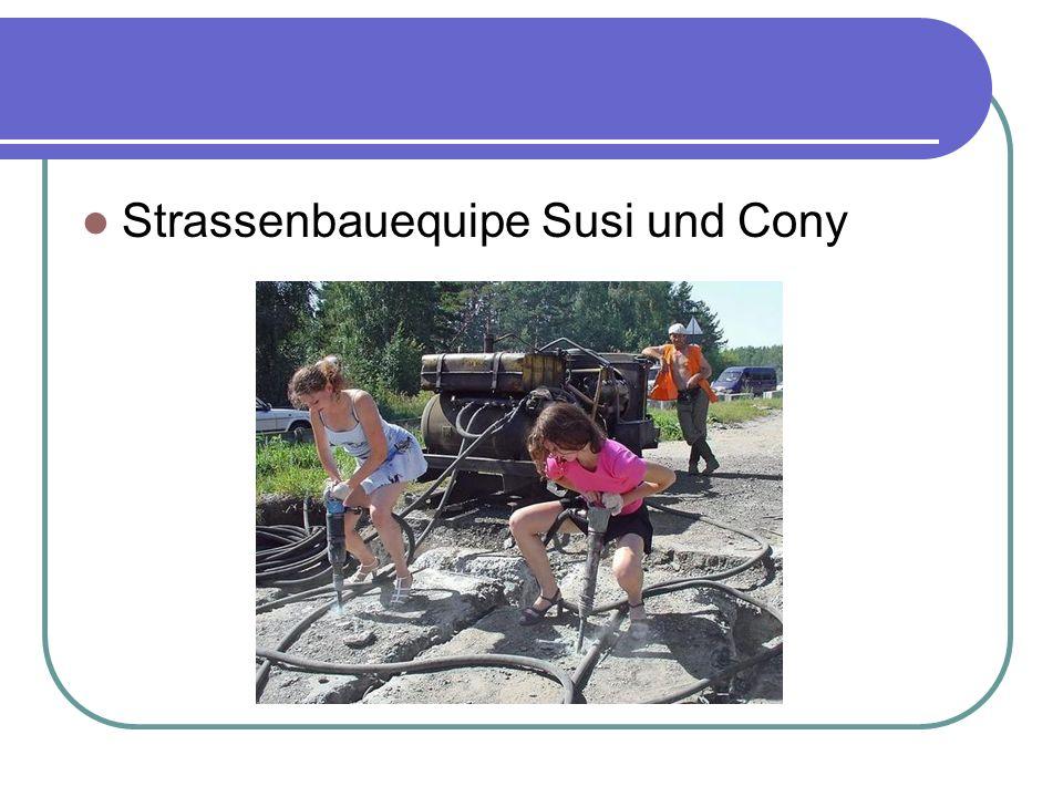 Strassenbauequipe Susi und Cony