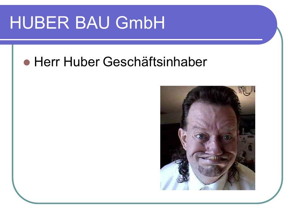 HUBER BAU GmbH Herr Huber Geschäftsinhaber
