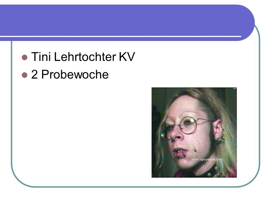 Tini Lehrtochter KV 2 Probewoche