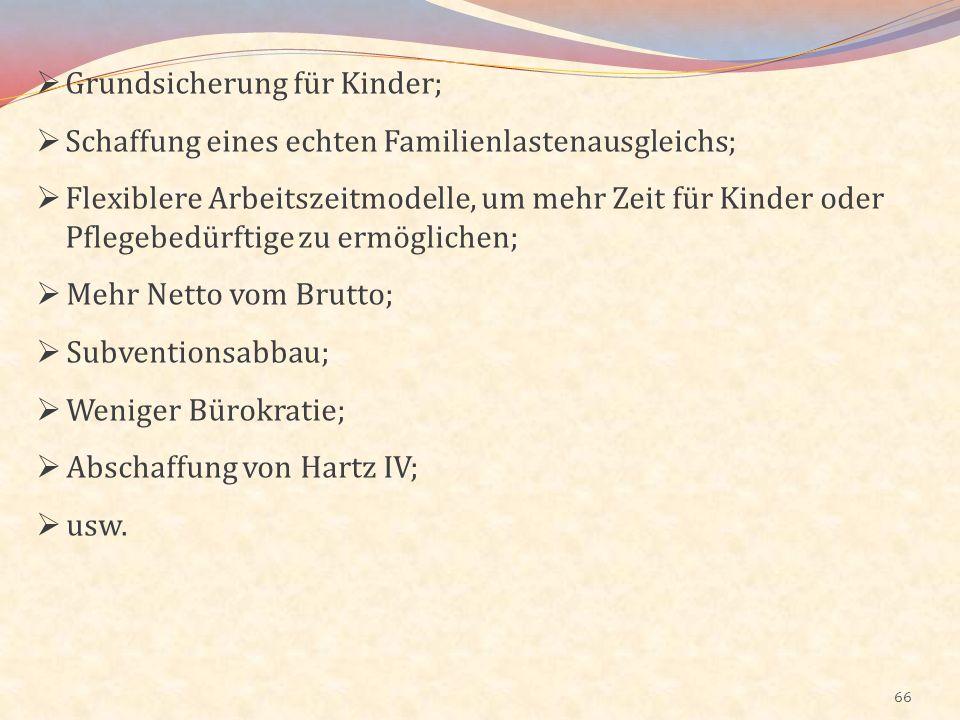 Grundsicherung für Kinder;