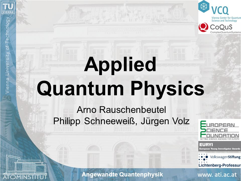 Applied Quantum Physics