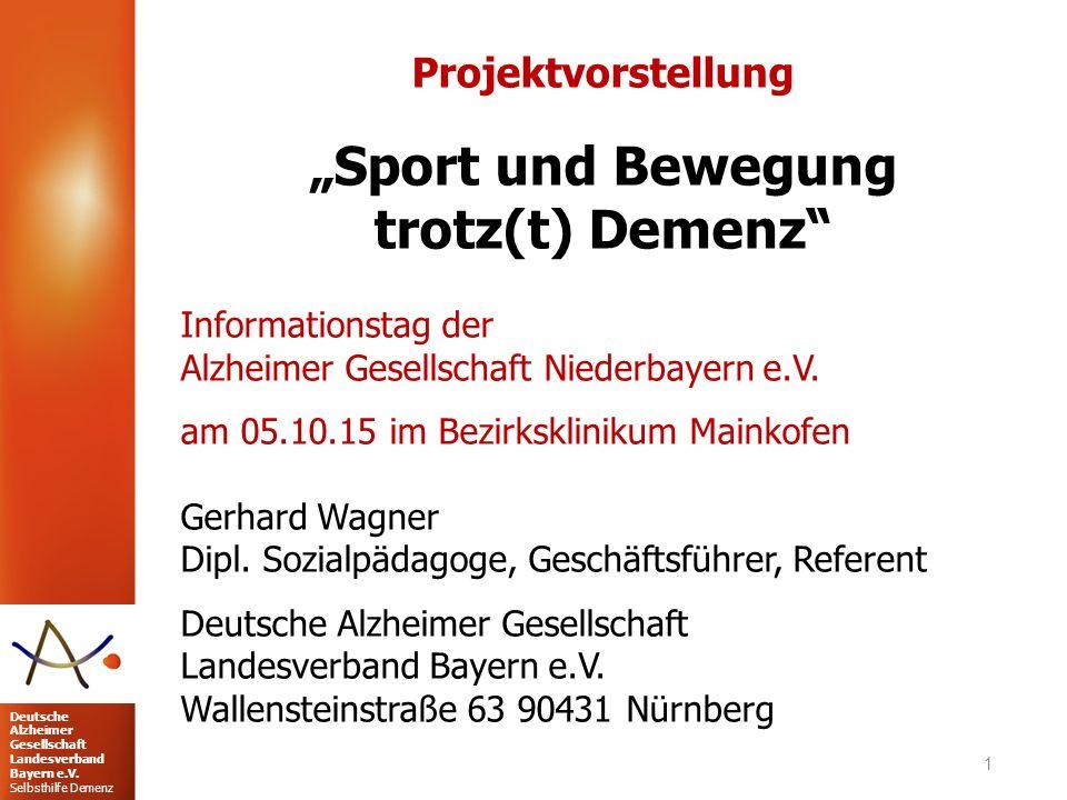"""""""Sport und Bewegung trotz(t) Demenz"""