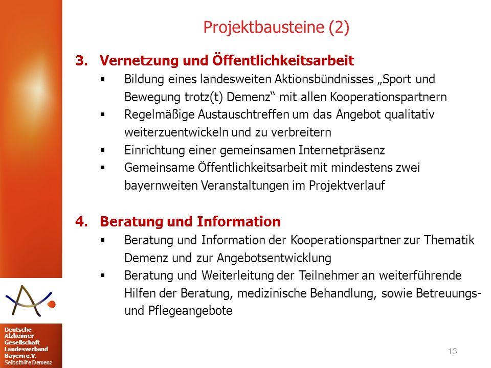 Projektbausteine (2) Vernetzung und Öffentlichkeitsarbeit