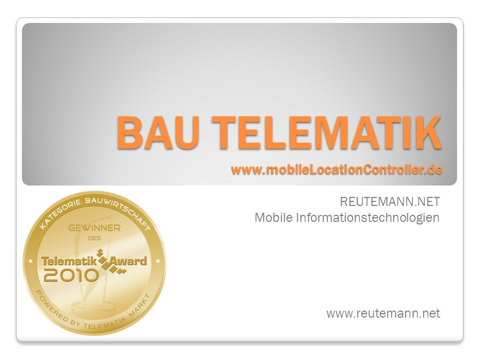 BAU TELEMATIK www.mobileLocationController.de