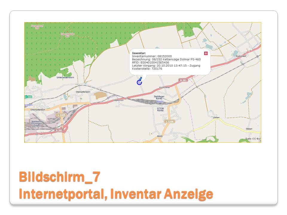Bildschirm_7 Internetportal, Inventar Anzeige
