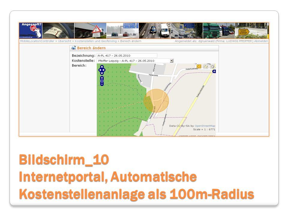 Bildschirm_10 Internetportal, Automatische Kostenstellenanlage als 100m-Radius