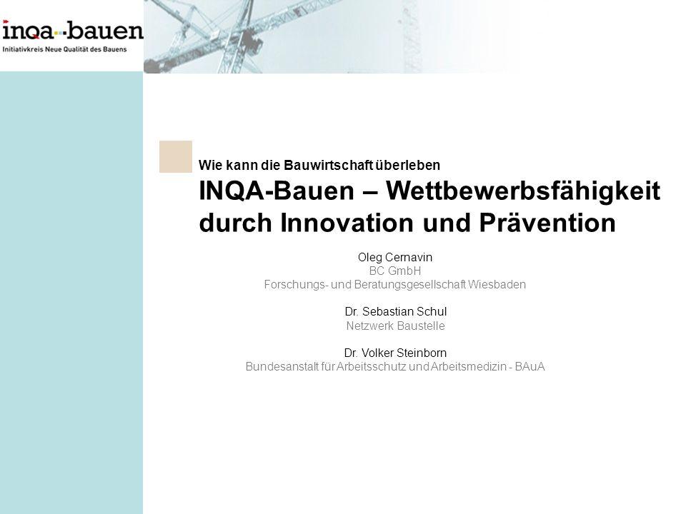 INQA-Bauen – Wettbewerbsfähigkeit durch Innovation und Prävention