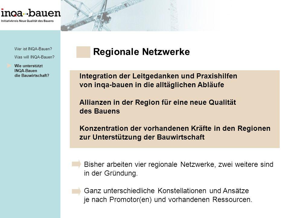 Regionale Netzwerke Integration der Leitgedanken und Praxishilfen