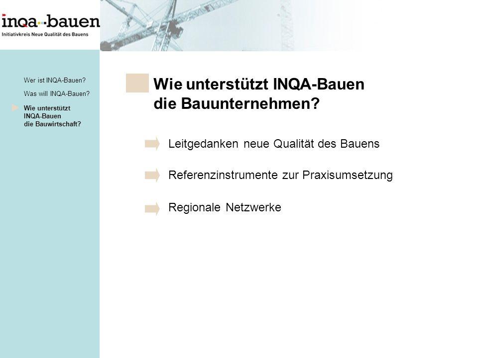 Wie unterstützt INQA-Bauen die Bauunternehmen