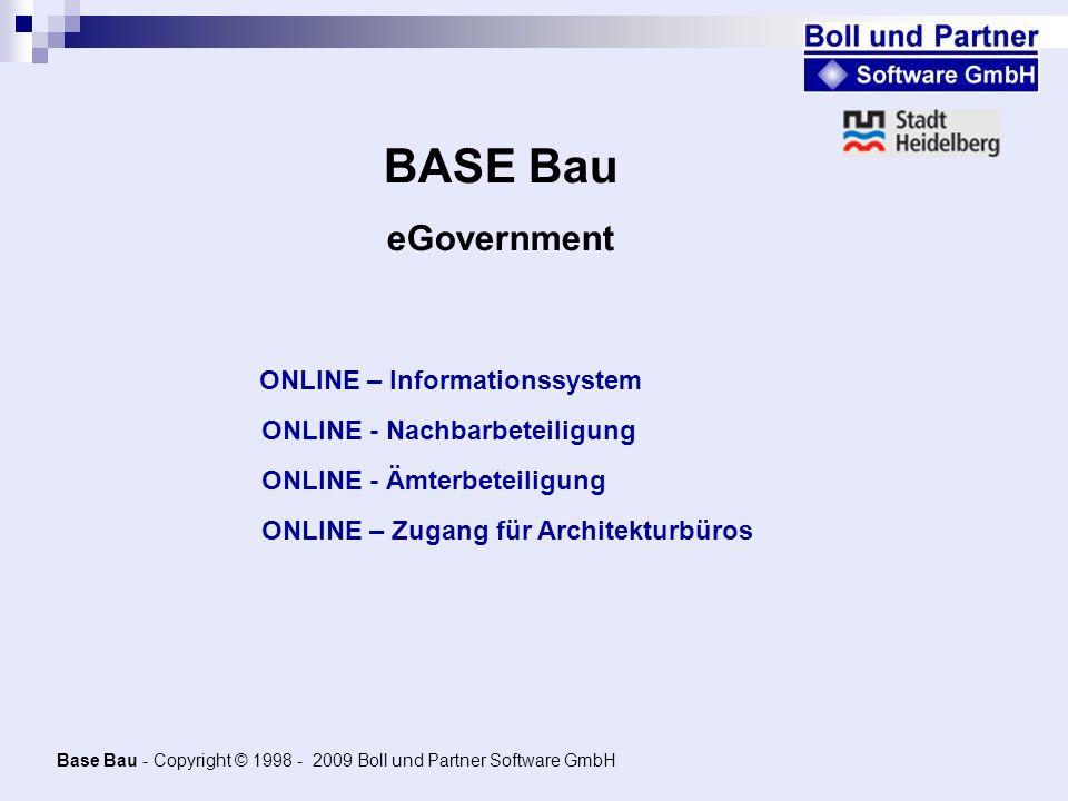 Base Bau - Copyright © 1998 - 2009 Boll und Partner Software GmbH