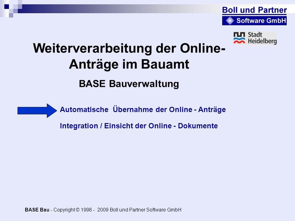Weiterverarbeitung der Online-Anträge im Bauamt
