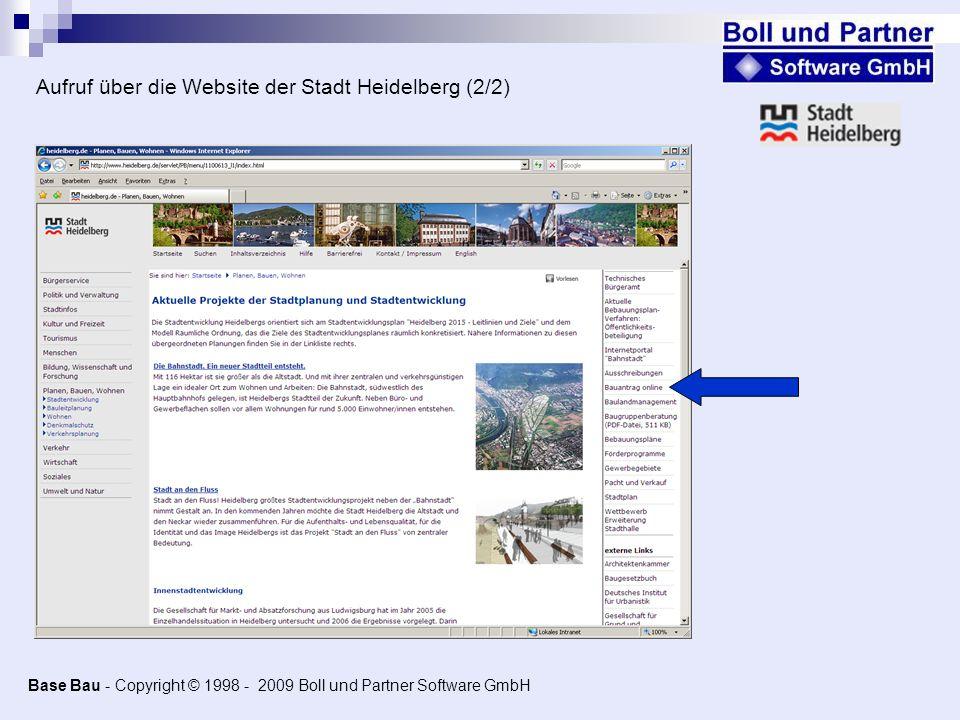 Aufruf über die Website der Stadt Heidelberg (2/2)