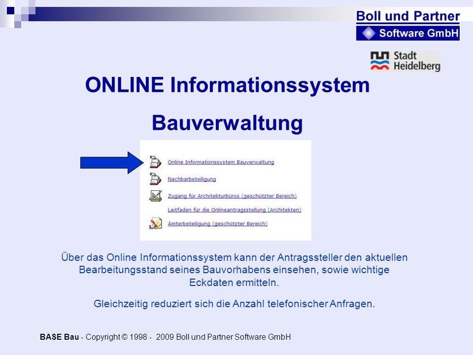 ONLINE Informationssystem