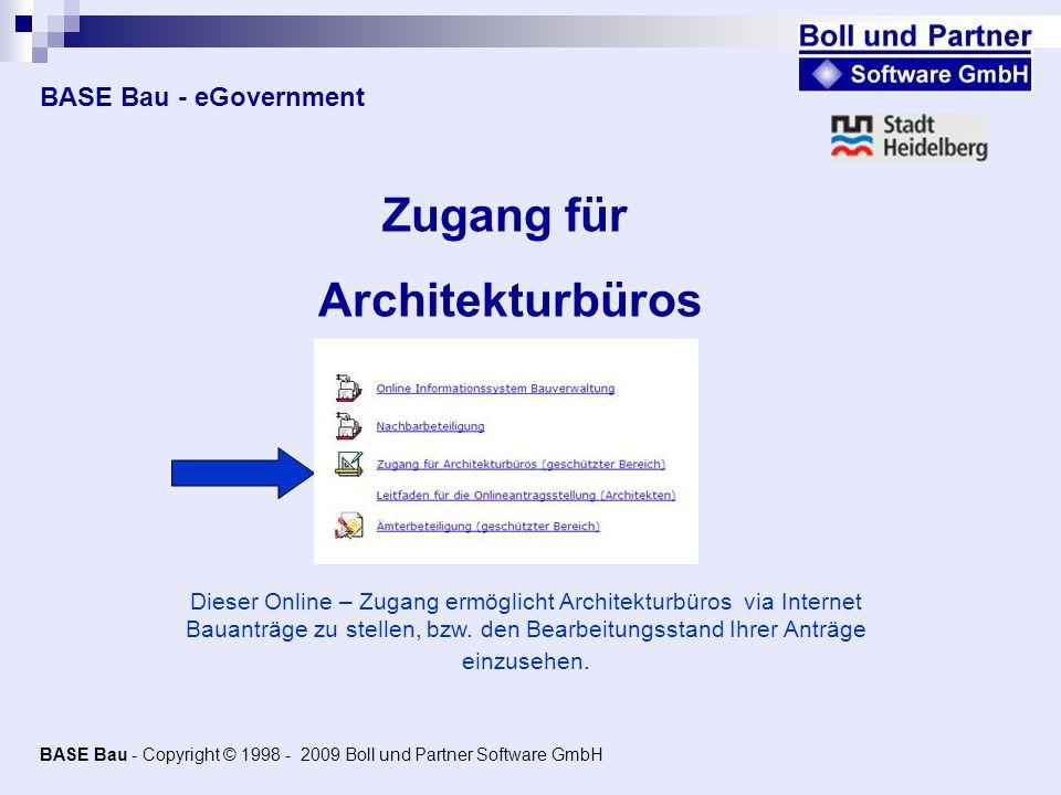 Zugang für Architekturbüros