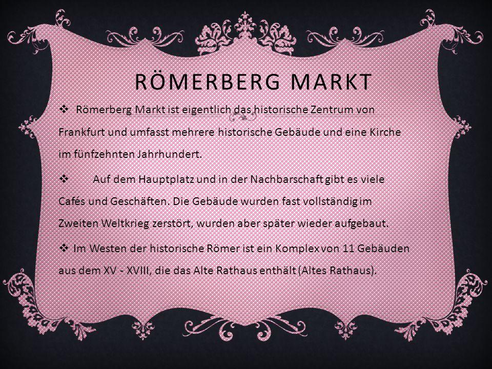 Römerberg Markt