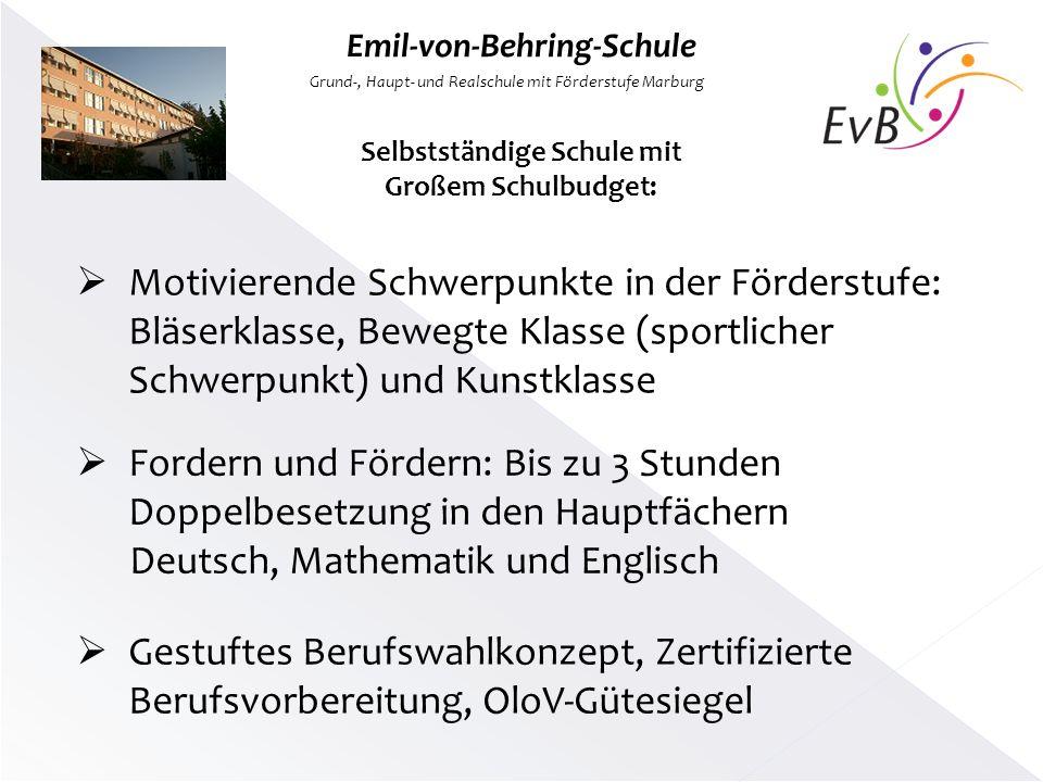 Emil-von-Behring-Schule Selbstständige Schule mit Großem Schulbudget: