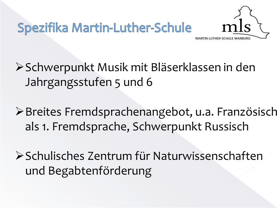 Spezifika Martin-Luther-Schule