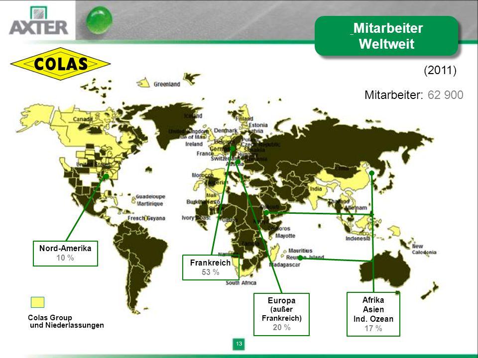 Mitarbeiter Weltweit (2011) Mitarbeiter: 62 900 Nord-Amerika 10 %
