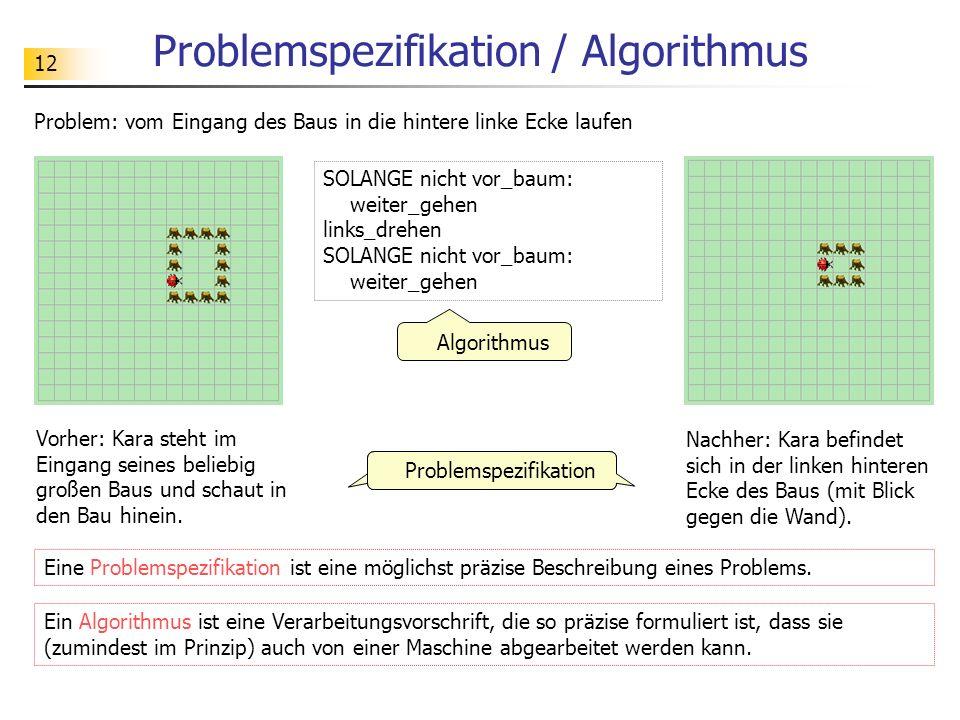 Problemspezifikation / Algorithmus