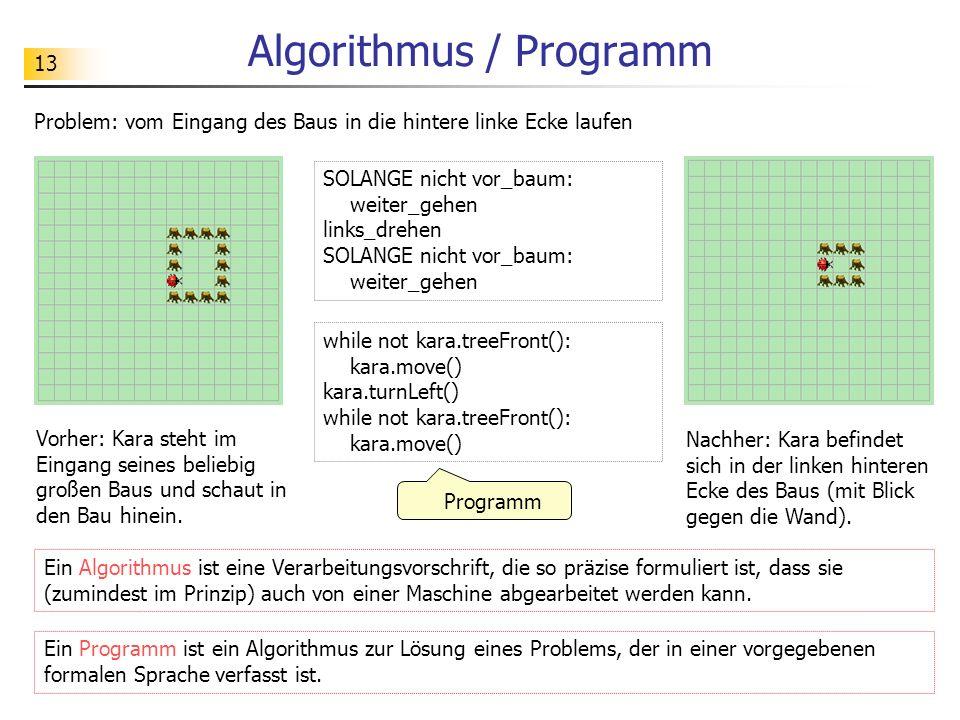 Algorithmus / Programm