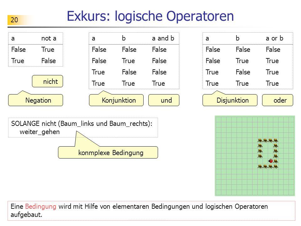 Exkurs: logische Operatoren