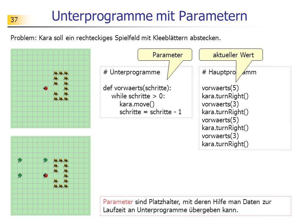 Unterprogramme mit Parametern