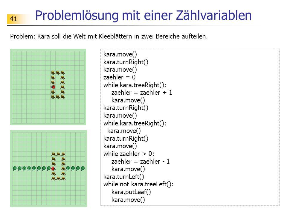 Problemlösung mit einer Zählvariablen