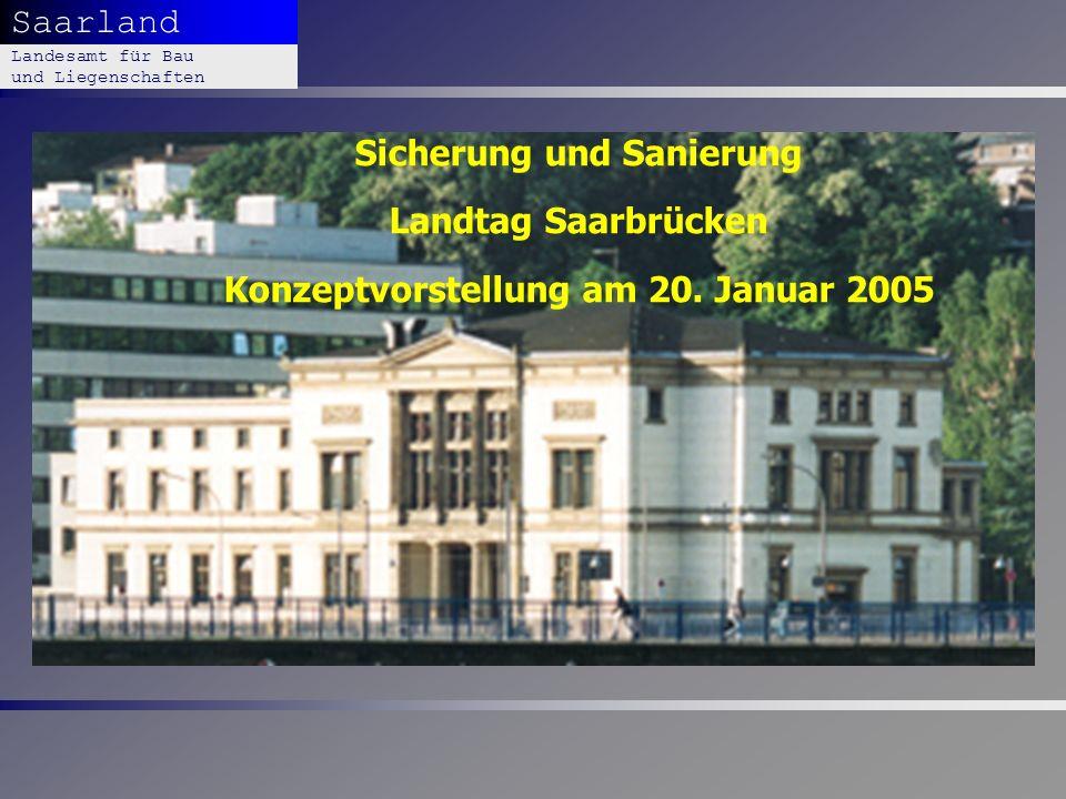 Präsentation LBL 28.03.2017. Sicherung und Sanierung Landtag Saarbrücken Konzeptvorstellung am 20. Januar 2005.