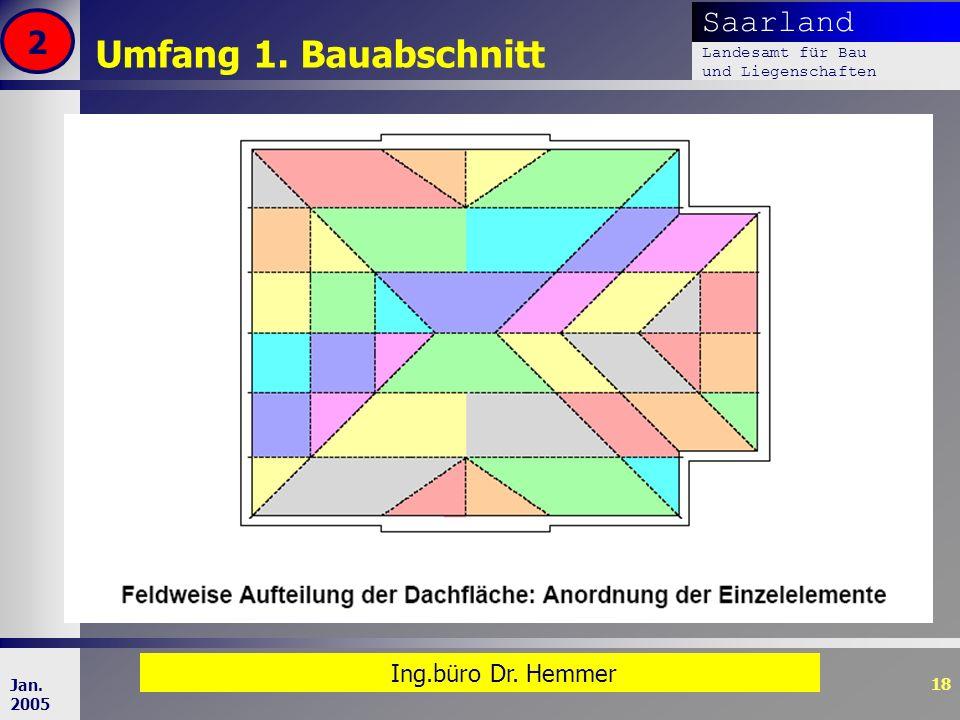 Umfang 1. Bauabschnitt 2 Ing.büro Dr. Hemmer Jan. 2005