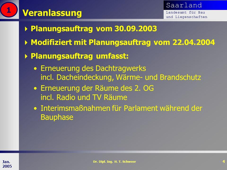 Veranlassung 1 Planungsauftrag vom 30.09.2003