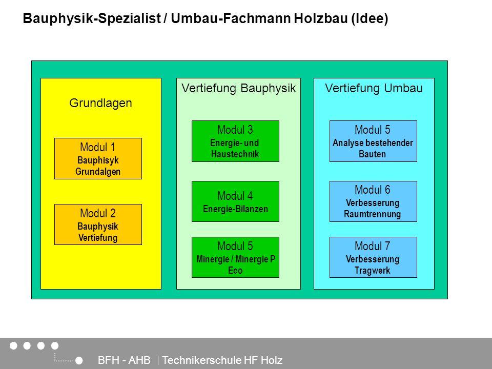 Bauphysik-Spezialist / Umbau-Fachmann Holzbau (Idee)