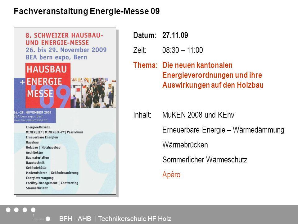 Fachveranstaltung Energie-Messe 09