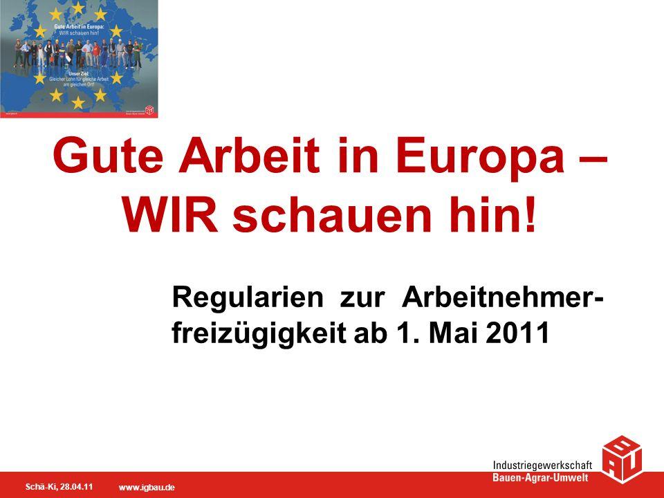 Gute Arbeit in Europa – WIR schauen hin!
