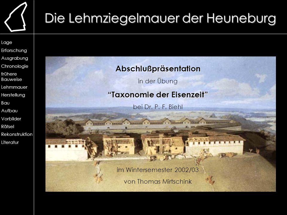 Taxonomie der Eisenzeit