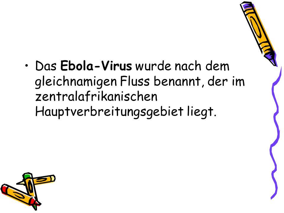 Das Ebola-Virus wurde nach dem gleichnamigen Fluss benannt, der im zentralafrikanischen Hauptverbreitungsgebiet liegt.