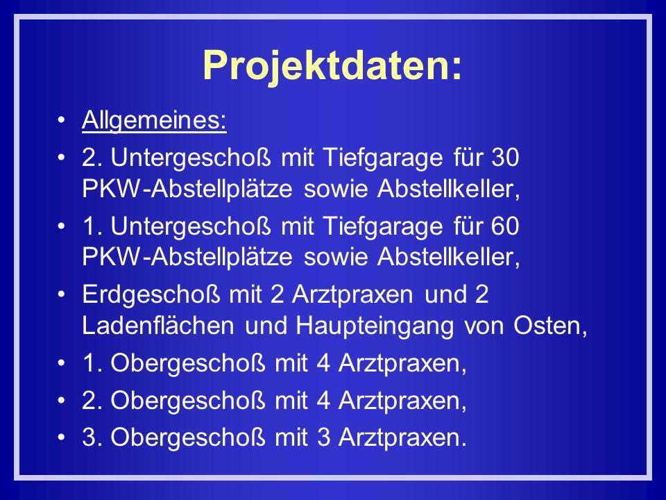 Projektdaten: Allgemeines: