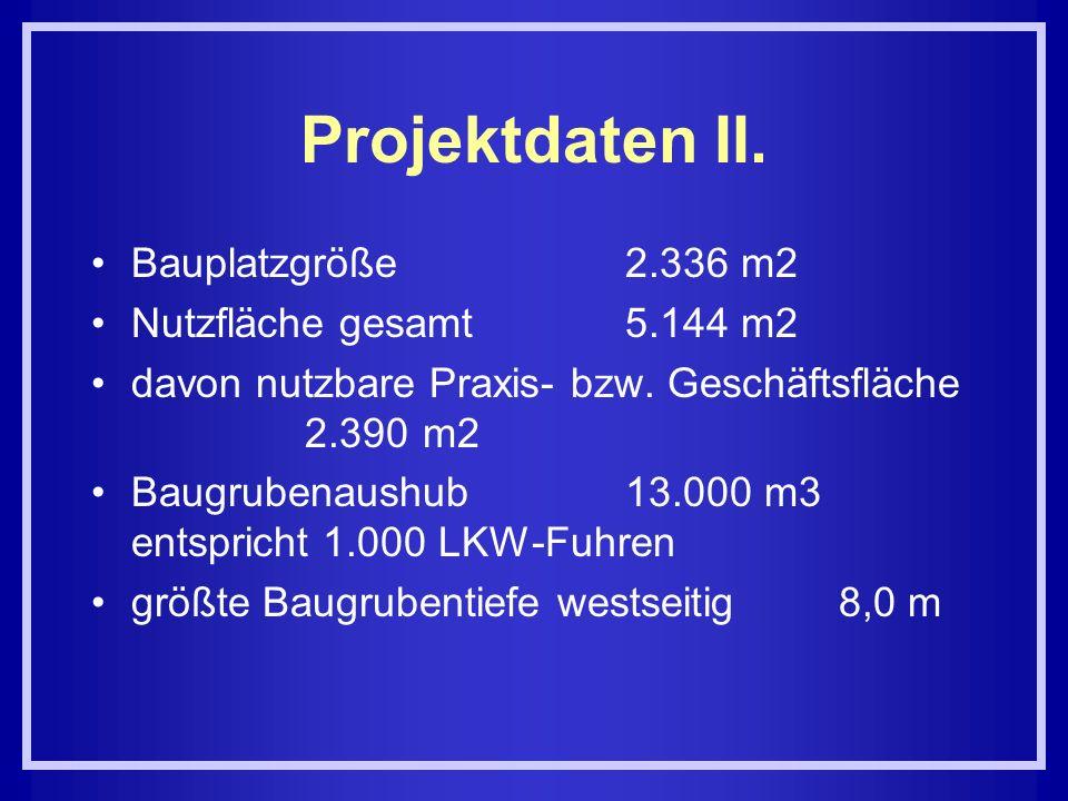 Projektdaten II. Bauplatzgröße 2.336 m2 Nutzfläche gesamt 5.144 m2