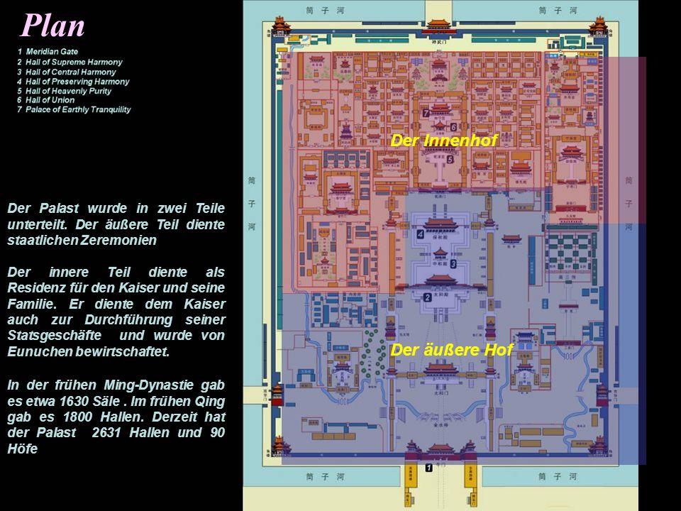 Plan Der Innenhof Der äußere Hof