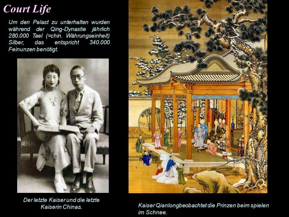 Der letzte Kaiser und die letzte Kaiserin Chinas.