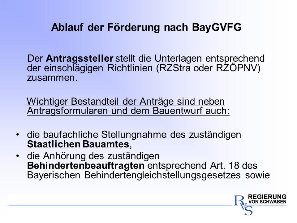 Ablauf der Förderung nach BayGVFG