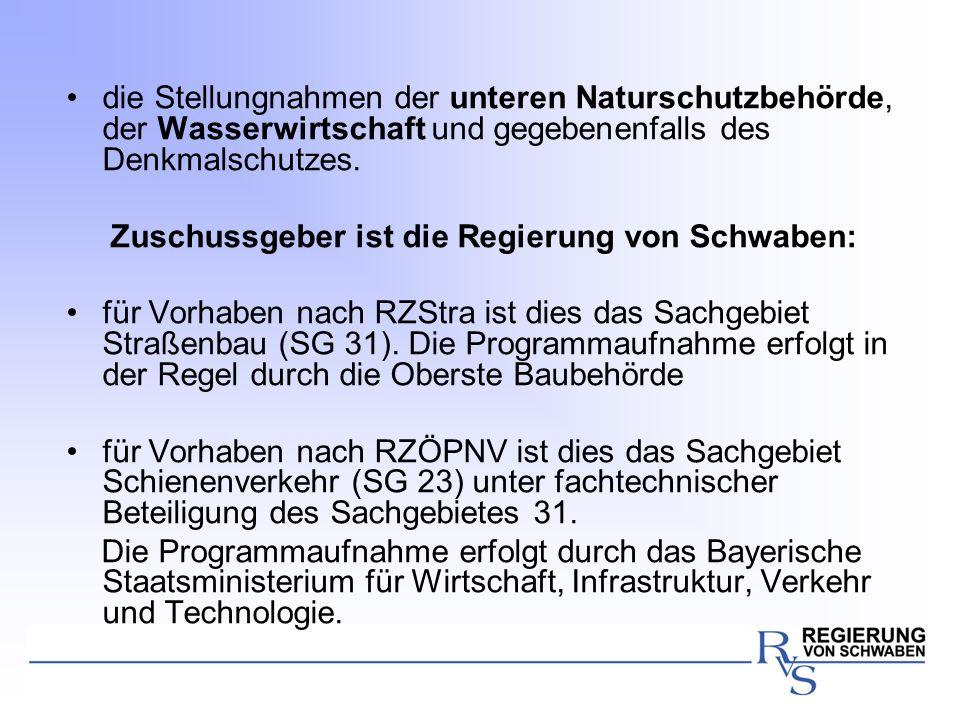 die Stellungnahmen der unteren Naturschutzbehörde, der Wasserwirtschaft und gegebenenfalls des Denkmalschutzes.