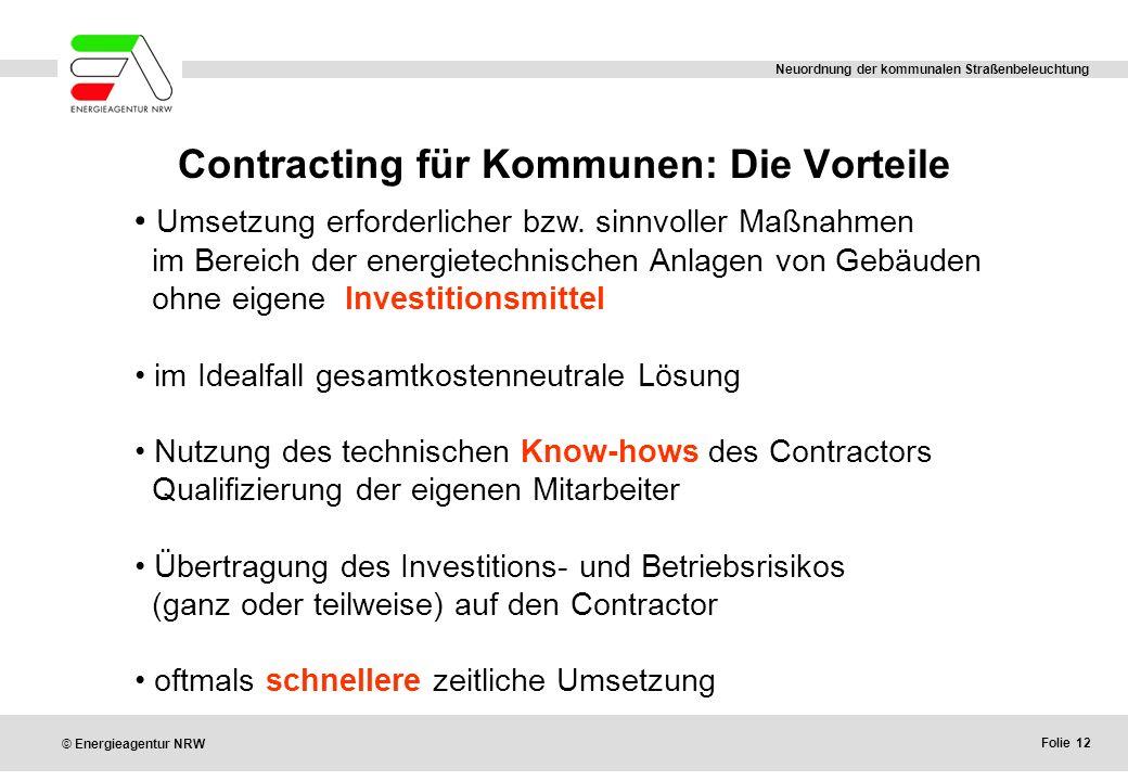Contracting für Kommunen: Die Vorteile