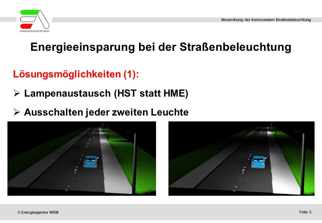 Energieeinsparung bei der Straßenbeleuchtung